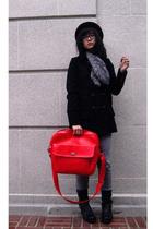 Forever21 coat - H&M scarf - Nine West shoes - new york hat co hat - Ebay purse