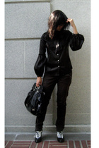 Max Studio blouse - Miss Sixty pants - forever 21 shoes - Nine West purse