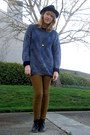 Sway-boots-thrifted-sweater-riding-pants-american-apparel-pants