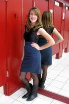 American Apparel dress - American Apparel skirt - American Apparel tights