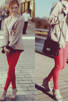 Zara pants - Zara blazer - Mango bag - H&M necklace