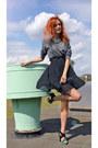 Heather-gray-h-m-sweatshirt-black-stradivarius-heels-black-h-m-necklace