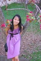 purple American Apparel dress - black