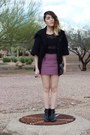 Thrifted-boots-forever-21-coat-topshop-skirt