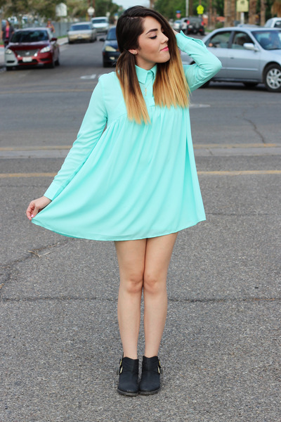 PacSun boots - Nasty Gal dress