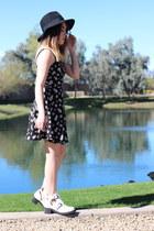 PacSun boots - PacSun dress - Forever 21 hat