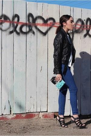 Etsy bag - Topshop jeans - Forever 21 jacket - Moddeals wedges - asos blouse