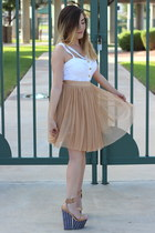Jeffrey Campbell wedges - Forever 21 skirt - thrifted top
