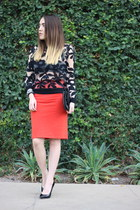 Topshop sweater - Forever 21 skirt