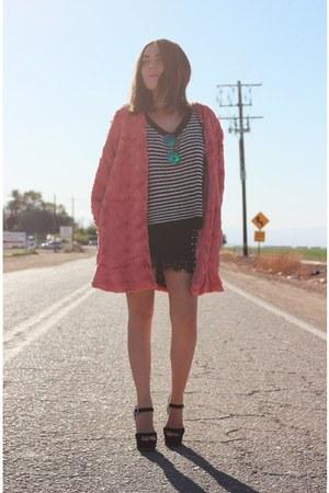 MinkPink coat - Nordstrom sweater - Topshop skirt