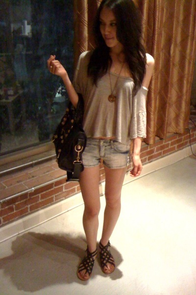Urban Outfitters shirt - forever 21 shorts - Urban Outfitters shoes - balenciaga