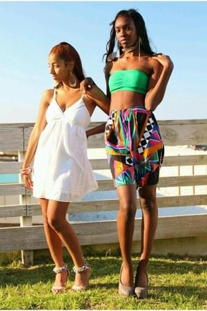 shorts - bandu top top - gray heels heels