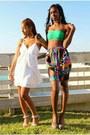 Shorts-bandu-top-top-gray-heels-heels