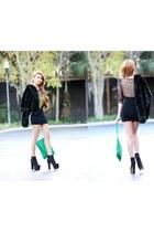 Topshop dress - ziginy boots - Zara jacket