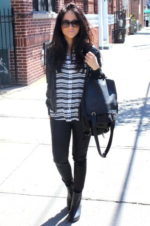 H&M boots - Theory jacket - Zara pants - Forever 21 top