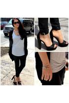 black Zara shoes - black Alexander Wang sweater - silver Joe Fresh top