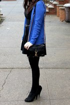 Topshop pumps - Topshop dress - JCrew sweater - Rebecca Minkoff bag
