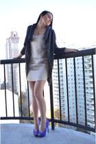 joseph dress - Joie cardigan - brian atwood heels