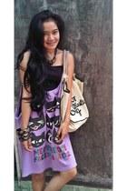 cotton Im not a plastic bag bag - long bloose Calzedonia blouse - wood Sukowati