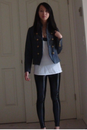 blazer - TNA top - aa bra - Target leggings - H&M necklace