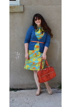 Target cardigan - vintage dress - thrifted sandals