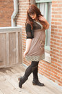 Shoedazzle-boots-vintage-dress-thrifted-sweater