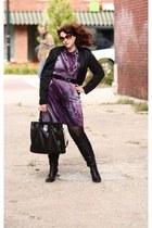 thrifted dress - Shoedazzle boots - Target blazer - Michael Kors bag