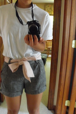 fruit of loom t-shirt - Korean shorts - gmarket belt