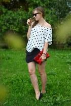 black Zara shorts - black Zara sunglasses