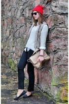 reserved bag - lindex sweater - H&M vest