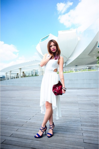 white cut-out midi Hollyhoque dress
