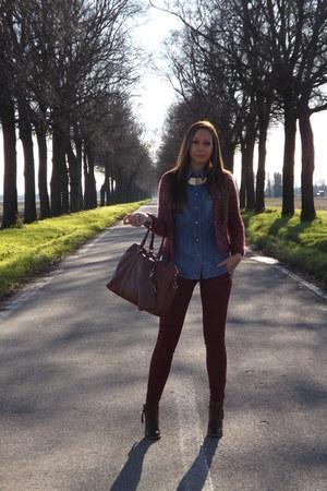 Bershka boots - Zara Kids jacket - Sisley shirt - Pull & Bear pants