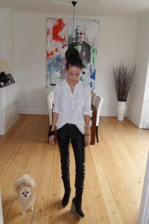 H&M pants - H&M shirt - Bianco wedges