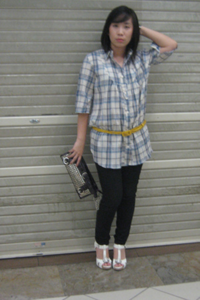 blue forgot  Forgot dress - white charles & keith Charles & Keith shoes