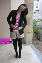 fame blazer - Zara shirt