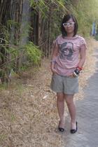 My moms pants pants - Ray Ban glasses - Forgot shirt