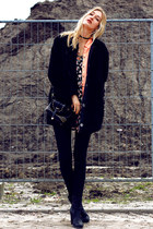 Deichmann boots - H&M dress - we jacket - Sheinside bag - Zara blouse