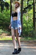H&M boots - H&M hat - Mango shorts - DressLink vest - brandy melville top