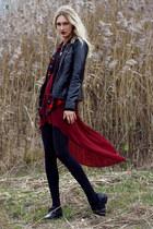 River Island blouse - le ballon boots - Only jacket - H&M shirt - romwe skirt