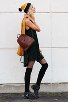 brandy melville dress - asos hat - WE fashion scarf - vintage bag - H&M socks
