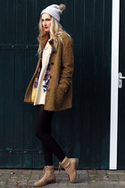 SDS boots - vintage dress - Kitsound hat - Secondhand jacket - H&M blouse