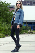 asos boots - Only jeans - vintage jacket - Monki top