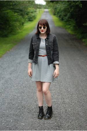 doc martens boots - Forever 21 dress - American Eagle jacket