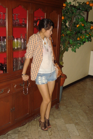 Vintage Moschino blazer - random brand top - random brand shorts - prp shoes - r