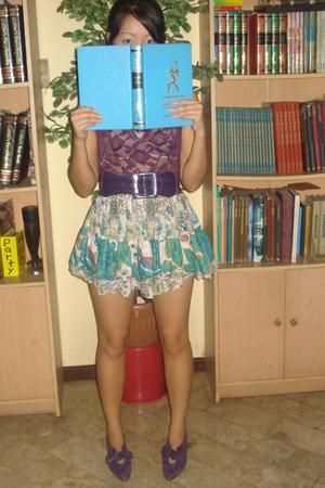 top - belt - skirt - Nine West shoes