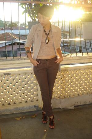 blazer - top - pants - accessories - accessories