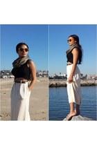 long skirt Mango skirt - crop top acne top - animal print banana republic belt