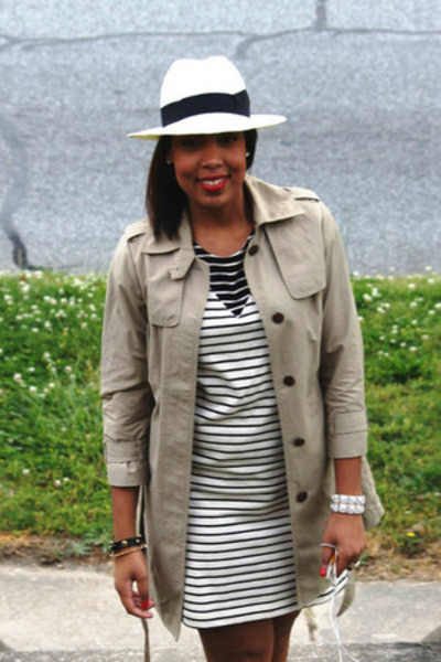 de22a35dca8bd Gap dress - gap panama hat Gap hat - trench Jcrew jacket
