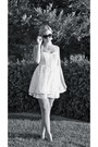 White-lace-dress-white-bow-chanel-sunglasses