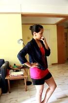 Lapsap Junkyard Sale sisters blazer - forever 21 top - Miss Selfridge shorts - T